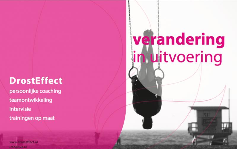 Verandering in Uitvoering – flyer voor DrostEffect